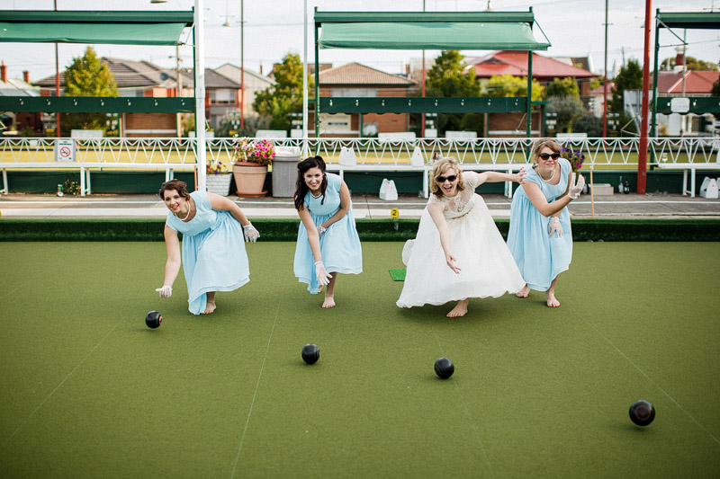 Greg and Kylie's amazing alternative wedding featuring a cinema and lawn bowls (79)