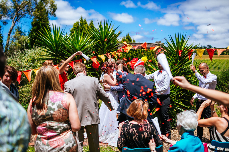 Annie and Tim's Amazing and Colourful Wedding near Melbourne