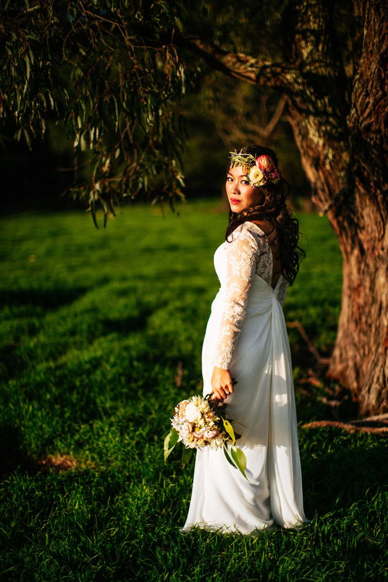 Richard and Clarissa's colourful farm wedding in Melbourne-128