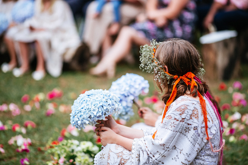 Staci and Simon's colourful DIY outdoor backyard wedding in Melbourne photographed by Lakshal Perera